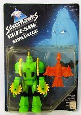SilverHawks Buzz-Saw with Shredator Vtg 1986 Kenner MOC NRFB Unpunched Card