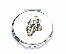 Motorbike #1 Design Compact Mirror Superbike Ladies Gift  FREE ENGRAVING 244