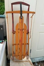 Vtg Yankee Clipper No.12 Flexible Flyer Wooden Snow Sled ~ Winter Decor!