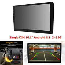 "1 DIN 10.1"" Android 8.1 Car Stereo Radio Quad-Core 2+32G GPS Wifi Mirror Link"