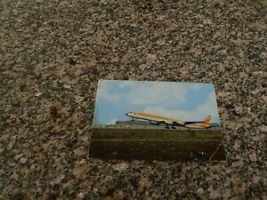 Surinam Airways Douglas DC-8 airport takeoff big airline issued postcard