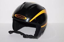 Boeri Ski Helmet, Black/Orange/Yellow, Adult Small / Extra Small