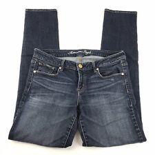 American Eagle Womens Jeans Skinny Stretch Medium Wash Size 14 Long EUC