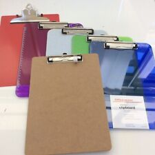 6 Brown Standard Clipboards DIY Decor Document Picture Holder Supplies LOT New