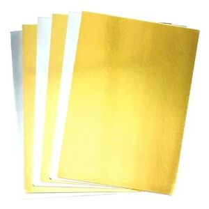 🔥8 x A4 Gold Silver Mirror Craft Card Metallic Creative Wedding Party 300GSM