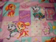 PAW PATROL Girls Cartoon Character Twin Flat bed Sheet (Microfiber Fabric)