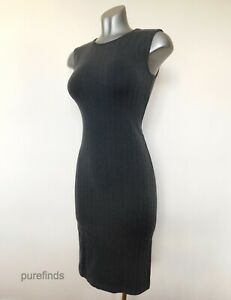 WOLFORD GENT DRESS,  SIZE SMALL, UK 10-12, IN BELUGA/BLACK, BNWT, RRP £295