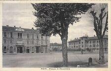 RR 1933 CARTOLINA DA ASTI A CAMOGLI - PIAZZA 4 NOVEMBRE