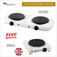 1000-1500 W Portable Single Double Electric Hot Plate Hob Kitchen Table Top Ring