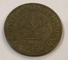 Germany 10 Pfennig 1950 German Bundesrepublik Deutschland Deutsch Coin