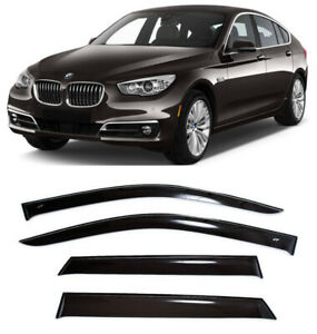For BMW 5 (F07) GT 2010-2016 Window Visors Side Sun Rain Guard Vent Deflectors