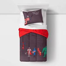 "Marvel Justin Harder Twin Reversible Comforter & Sham Set 64"" X 86"" w/ Stow Bag"