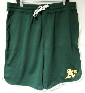 Oakland Athletics Mens L Elastic Waist Athletic Shorts with Drawstring C1 901