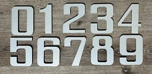 8 inch Modern Floating or Flush Mount House Address Numbers