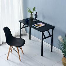 Folding Computer Desk Office Study Laptop Table Workstation Furniture Home Black