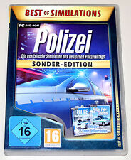 POLIZEI - SONDER EDITION - PC DVD - POLICE SIMULATION POLIZEI FAHR SIMULATOR