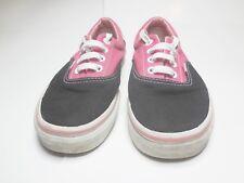 VANS Pink Canvas & Black Suede Mens Sz 5 Womens Sz 6.5 Shoes
