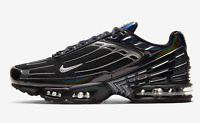 "Nike Air Max Plus 3""Black/Deep Royal Blue/Metallic"" Men's Trainers All Sizes"
