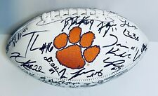 2019 CLEMSON TIGERS TEAM SIGNED AUTOGRAPH LOGO FOOTBALL COA 40+ TREVOR LAWRENCE