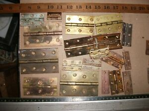 BRASS HINGES lot various