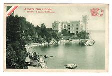 Il Castello Di Miranar - Trieste Photo Postcard c1920s