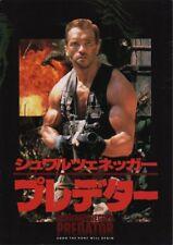 PREDATOR Japanese Souvenir Program 1987, Arnold Schwarzenegger