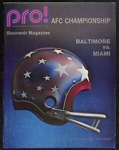 1971 AFC Championship Game Program Colts v Dolphins 1/2/1972  Ex/MT 66184