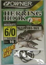 Owner Herring Mosquito Hooks Super Needle Point Wide Gap #5377Hh-161 Sz 6/0 16pk