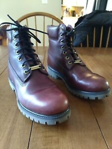 Timberland 6 Inch Red/Brown Premium Insulated Waterproof Boots Size 8