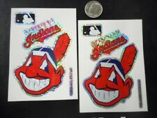 Cleveland Indians Chief Wahoo Stickers, Two Pieces Free Shipping