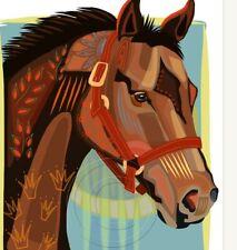 Seattle Slew Horse Racing Painting Print Signed Triple Crown Winner SFASTUDIO