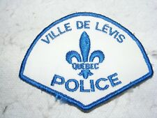 CANADA POLICE CLOTH BADGE PATCH CANADIAN LEVIS QUEBEC COLLECTABLE EMBROIDERED