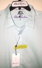 NEW Robert Graham *Kings Bench* Button-Front Shirt Sz 2XL Seafoam