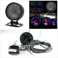 2in1 62mm 7 Light Colors LCD Digital Display Car Voltage Meter Turbo Boost Gauge