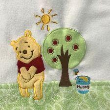 Disney Baby Winnie The Pooh Bear Fleece Cream Sunshine Apple Tree Hunny Blanket