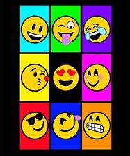 """Emoji Luxury Plush Blanket Heavy Weight 60""""X80""""Twin Size"""