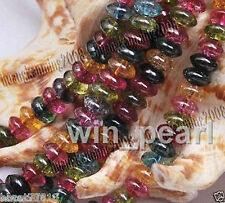 5x8mm Multicolor Tourmaline Gemstone Loose Beads 15''