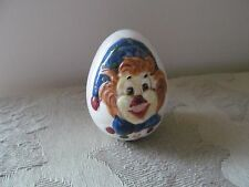 Collectible Ceramic / Pottery Egg with Hand Painted Clown Face #Gp81