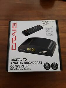 CRAIG Digital To Analog Broadcast Converter with Remote CVD509n, New