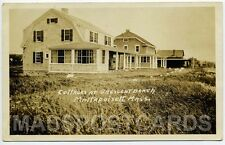 Mattapoisett MA Mass RPPC real photo Cottages Crescent Beach 1924?