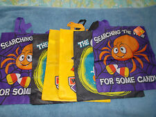 "Halloween Lot of 6 Trick or Treat Bags Large 14.5"" x 16.5"" with Handles NWT"