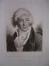 Gravure Portrait de FLEURY Joseph-Abraham Bénard  Comédie Française