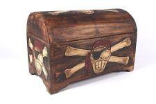 Coffre Boîte à Trésors en bois de pirate Piratentruhe 3 différentes tailles