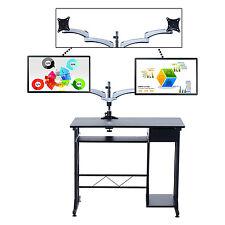 Homcom Monitor de computadora de montaje de escritorio brazo del oscilación Ajustable Giratorio Inclinable Lcd Led