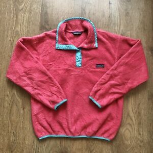 Patagonia Synchilla Fleece Snap-T Womens Pullover - Size 10 - Pink and Blue