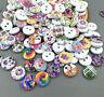DIY 100pcs Mixed Wooden Buttons Fit Sewing scrapbook  Decorative Crafts 11.5mm