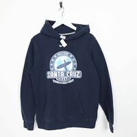 Vintage Kids NIKE USA Santa Cruz Hoodie Sweatshirt Navy Blue | XL