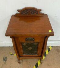Antique Vintage Wooden Coal Scuttle Cupboard Art Nouveau Used Good Con (HC)(A)