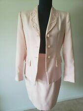 """Kasper"" woman's skirt suit light pink color, jacket/blazer  with decor, size 8."