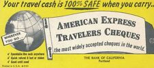 Vintage American Express Travelers Cheques Blotter, Bank of California Issuer